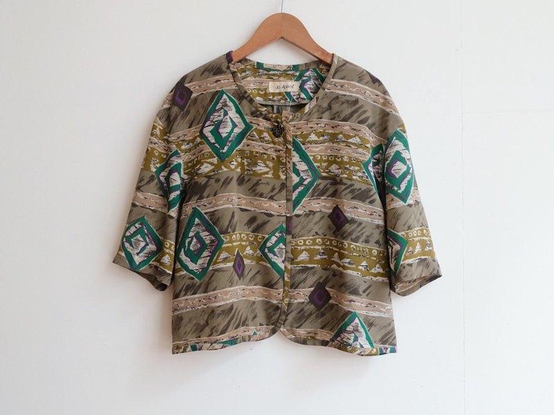 Vintage / 罩衫式襯衫 / 五分袖 no.301 tk