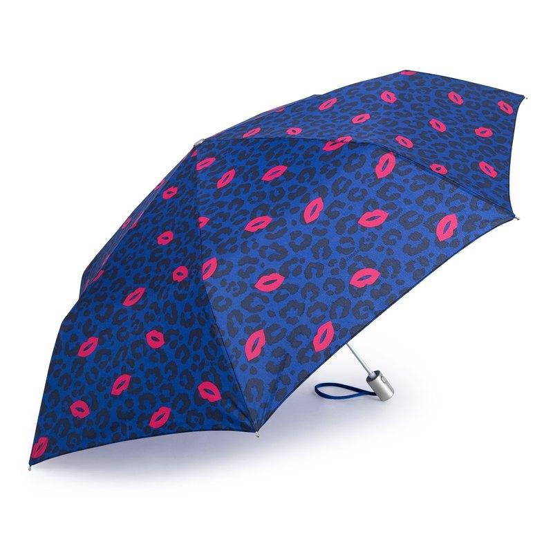超輕防風抗UV自動傘 - 豹紋X紅唇
