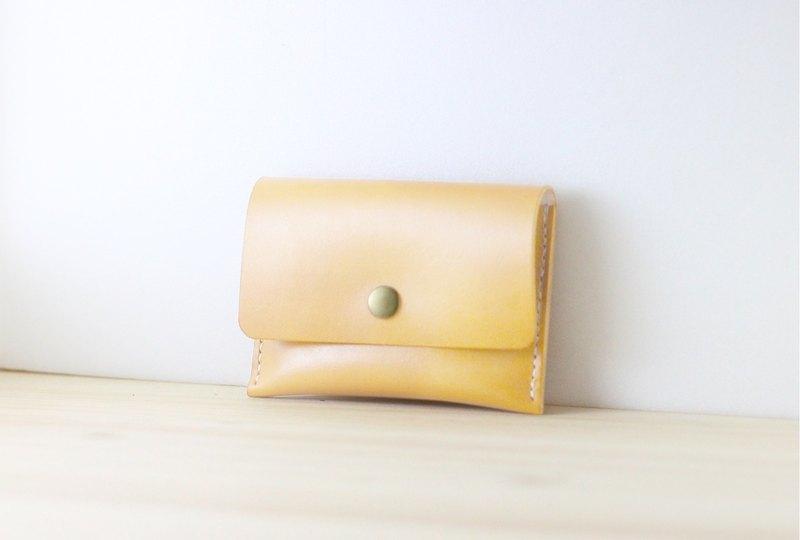 【聖誕交換禮物】簡約款-皮革零錢包 名片包 (原色)