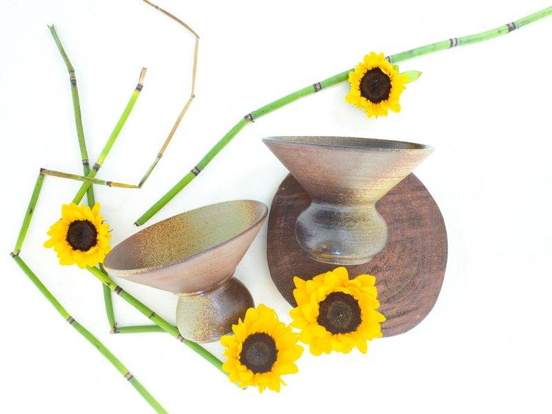 手握的溫度 - 特殊花器 - 手拉坏 居家佈置 茶席 手作陶藝