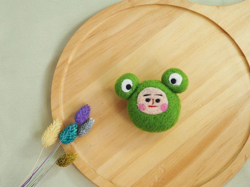 青蛙君羊毛氈別針