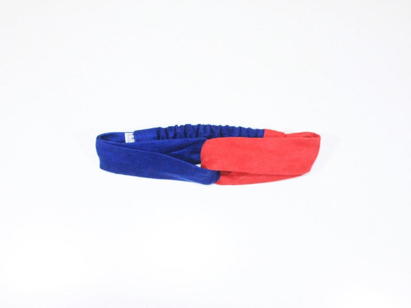 Papillon(紅藍)/鬆緊髮帶