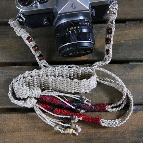 絲線和木珠麻相機背帶/腰帶
