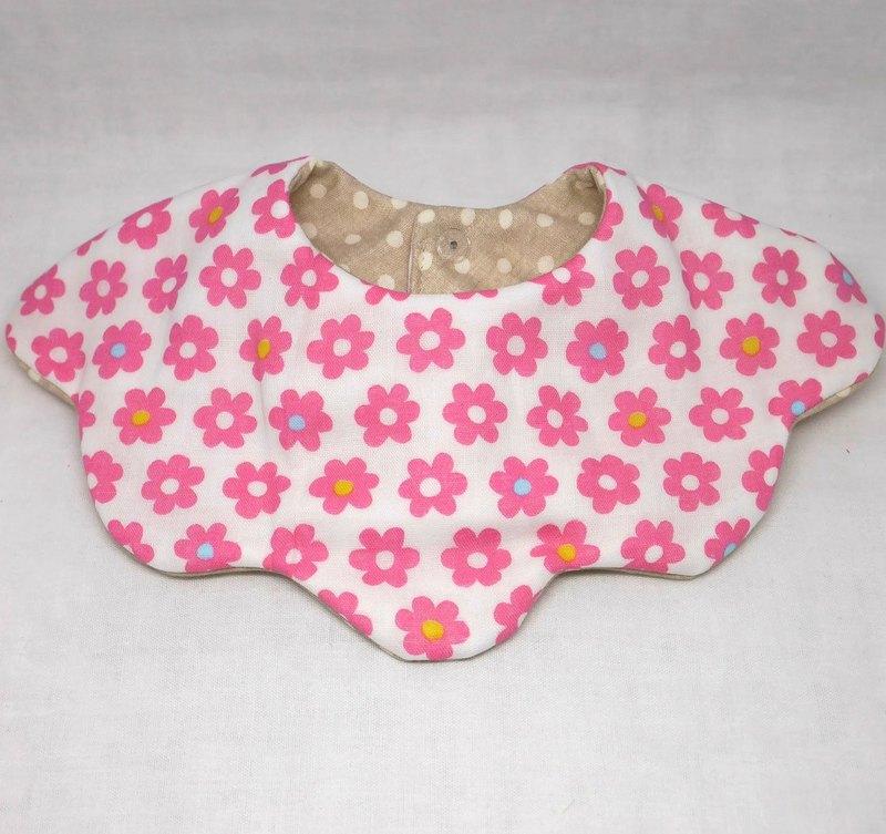 日本手工8層紗布360圈圍兜/花型