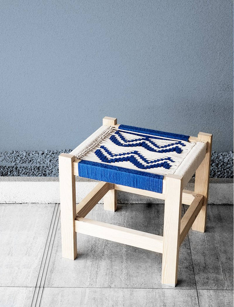 波浪椅編繩椅