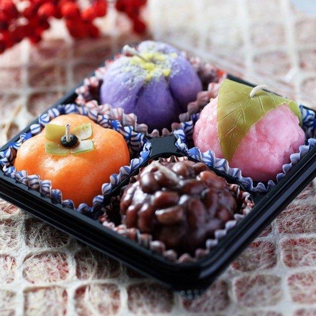 日本糕點蠟燭(4個)