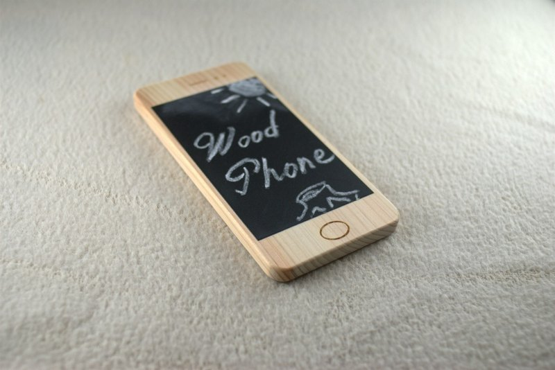 塗鴉智能手機木材電話