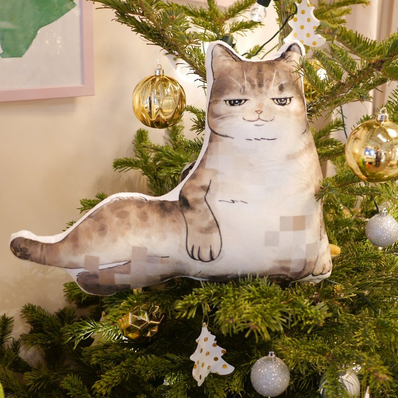 【花樣毛孩】貓抱枕 胖貓 貓伴 咕? 虎紋貓 性感