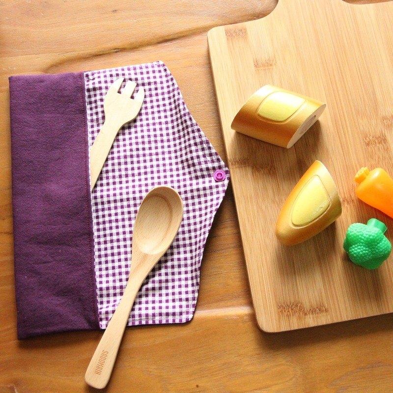 文青風環保筷袋 ~紫 收納包.環保筷袋.手作餐具袋