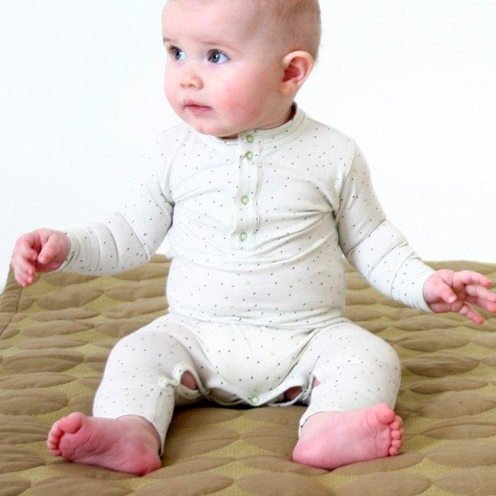 【北歐童裝】冰島有機棉新生兒透氣6M至18M包屁衣