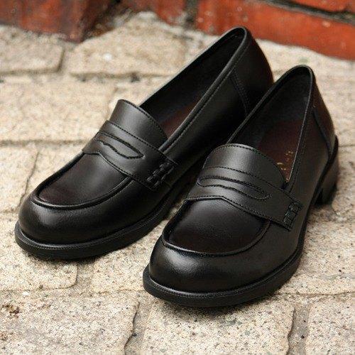 軟硬幣樂福鞋禮儀場合通勤學校學生鞋A6407