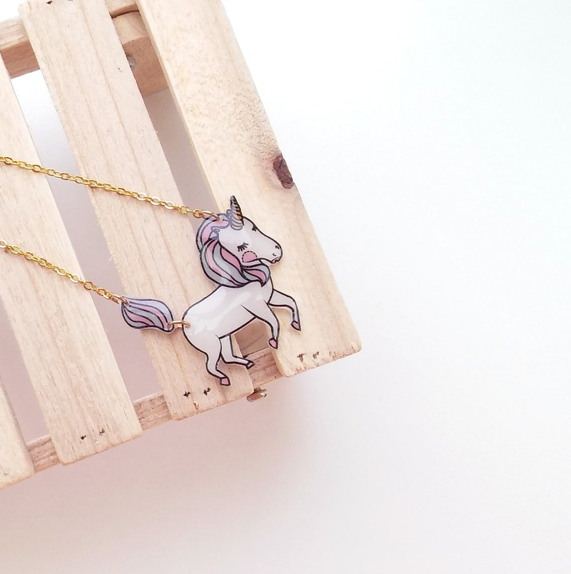 童話系列項鍊- 獨角獸-N-016