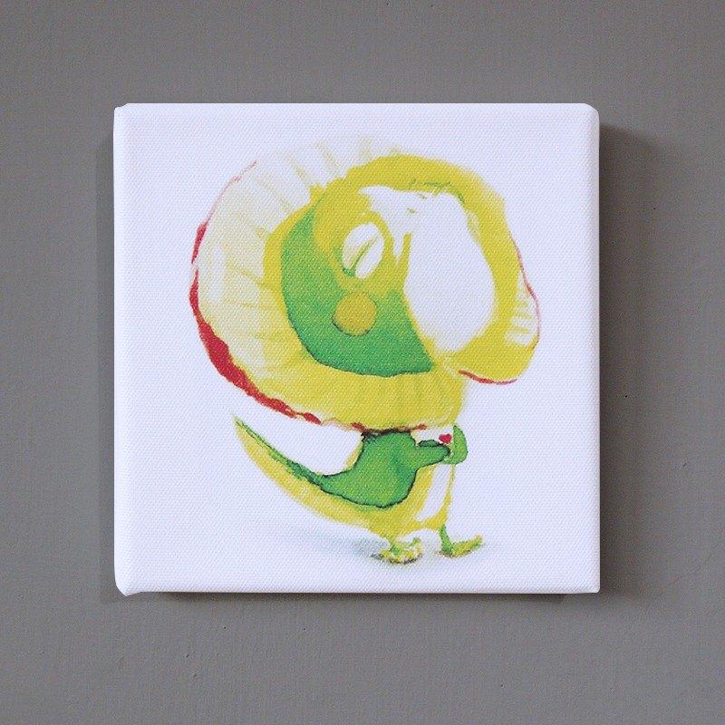 傘蜥蜴 動物複製畫 無框畫 壁貼 擺飾