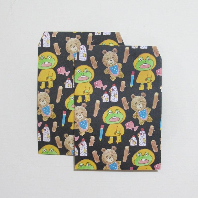 panda雜貨鋪 動物圖案情人節禮物包裝袋也可以是信封袋