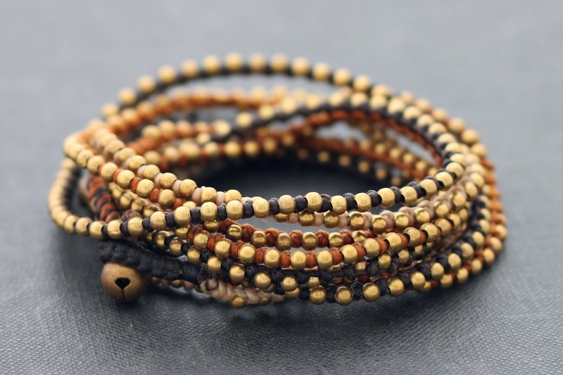 Earth Tone Stud Wrap手鍊