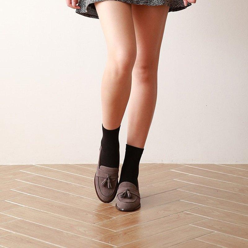 PRE-ORDER – 韓國人手製 MACMOC Movin (GREY) 流蘇樂福鞋