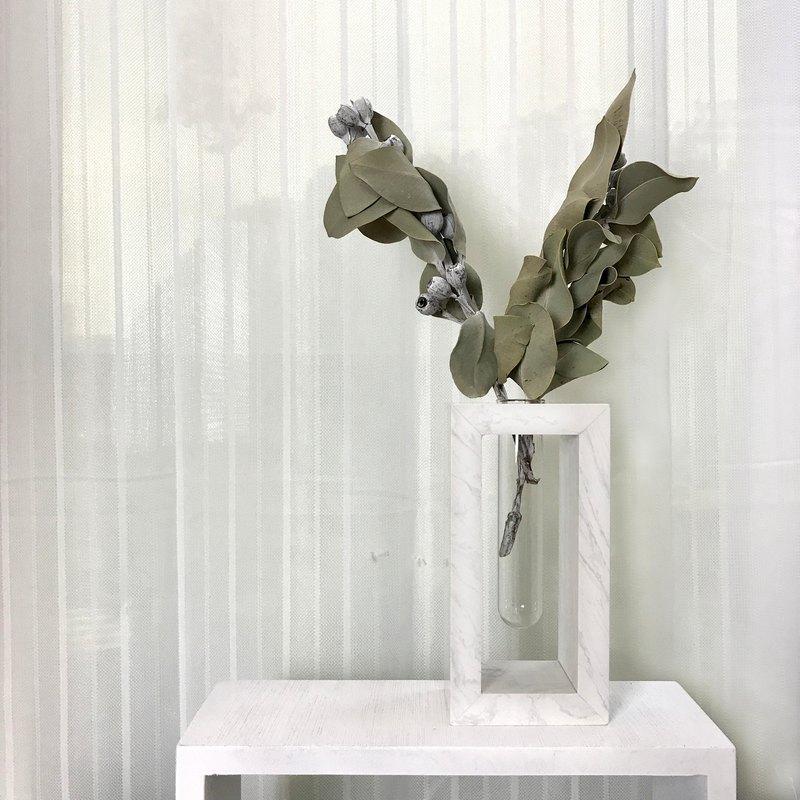 【 試管方系列A - 方框 】大理石 居家裝飾 水耕 乾燥花