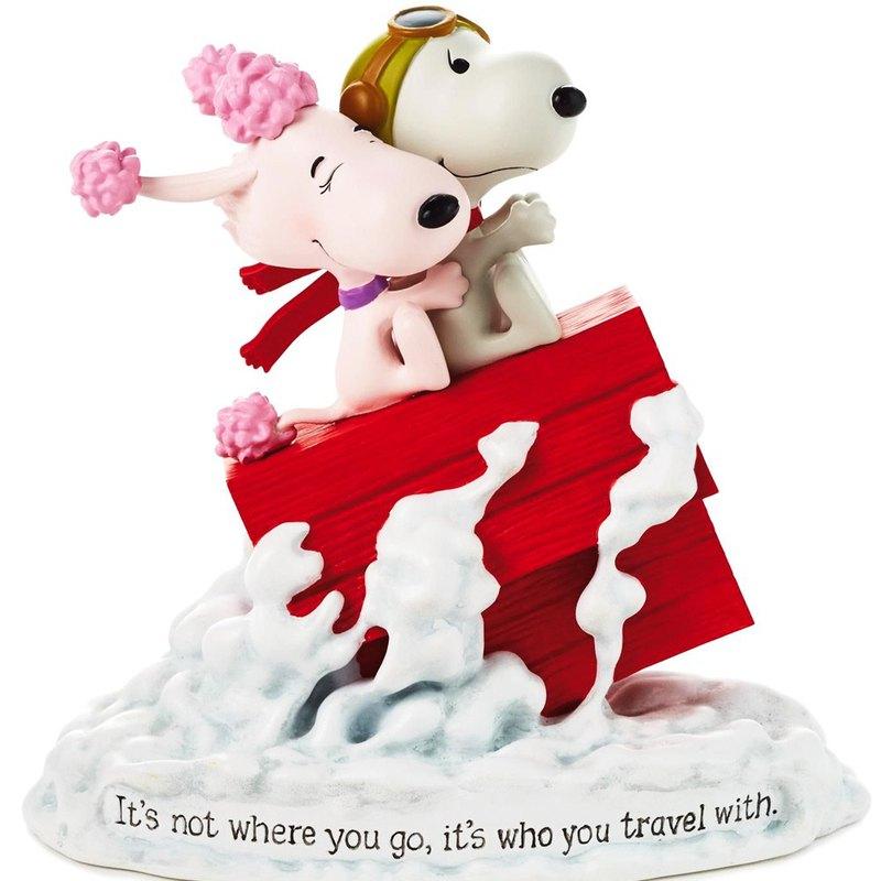 Snoopy電影手工雕塑-我的飛行情人【Hallmark 史努比 手工雕塑】