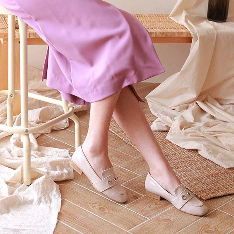 韓國人手製 MACMOC Ozoz (BEIGE) 小甜圈樂福鞋