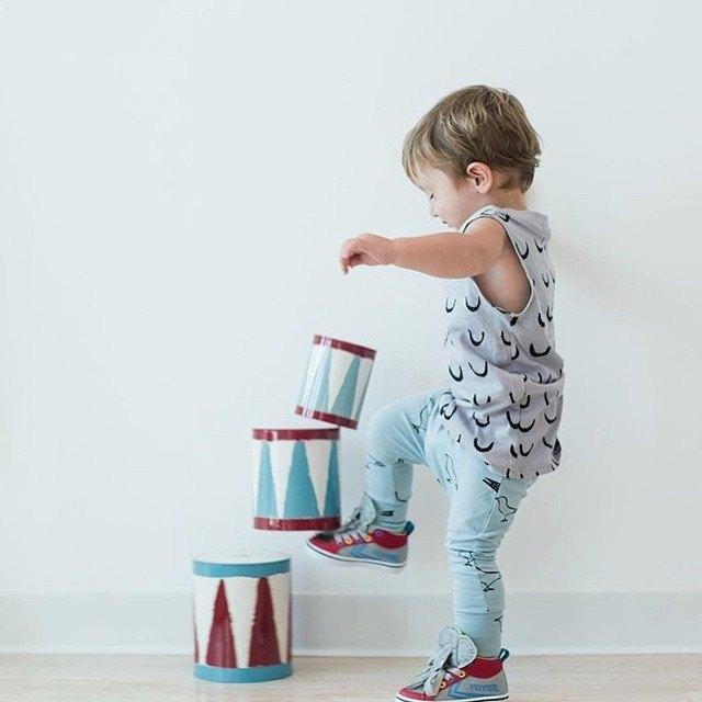 【冰島童裝】兒童有機棉哈倫褲1歲至8歲 天空藍