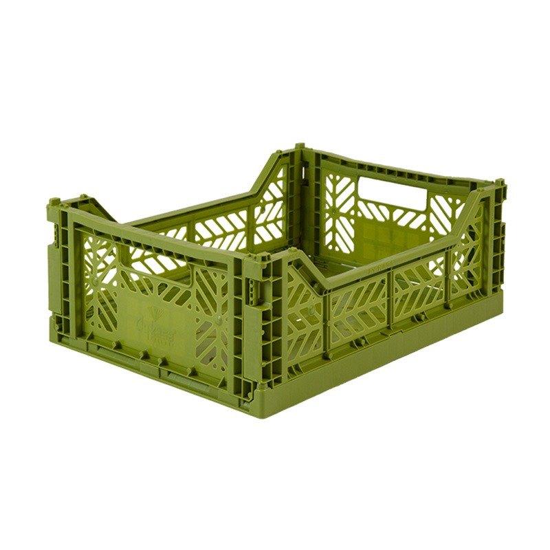 土耳其Aykasa折疊收納籃(M)-橄欖綠