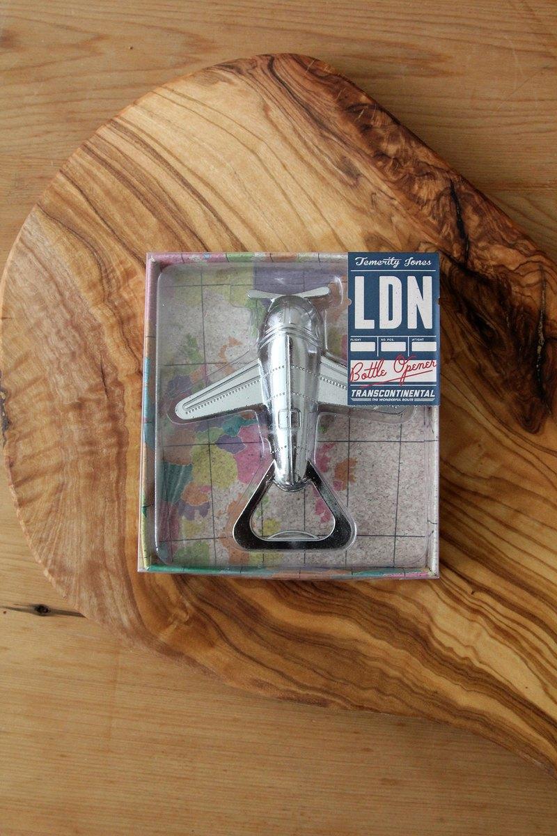 英國進口Temerity Jones 復古風格銀色金屬飛機開瓶器/開罐器