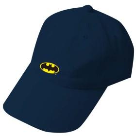 BATMAN バットマン (80周年記念) - 刺繍ローキャップ ロゴ ネイビー/キャップ/メンズ 【公式/オフィシャル】