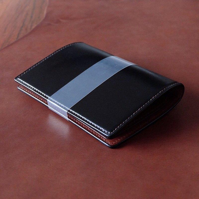 Mildy Hands - PC01 - 護照夾 Passport Case ( Japanese Oil Cordovan 馬臀皮 ) Black