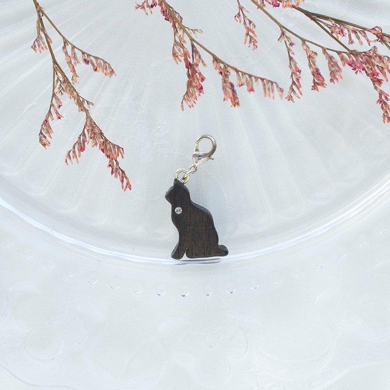 手工木製吊飾  靜坐貓 吊飾  禮物訂製