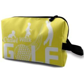 ゴルフ 英字 化粧ポーチ 携帯用 化粧ポーチ 大容量 軽い 旅行ポーチ 洗面用具入れ 化粧ポーチ 収納 ハンドバッグ 財布 防水