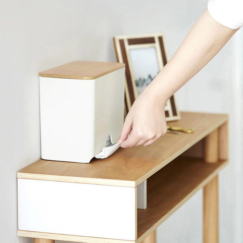 日本IDEACO 原木蓋口罩收納抽取盒