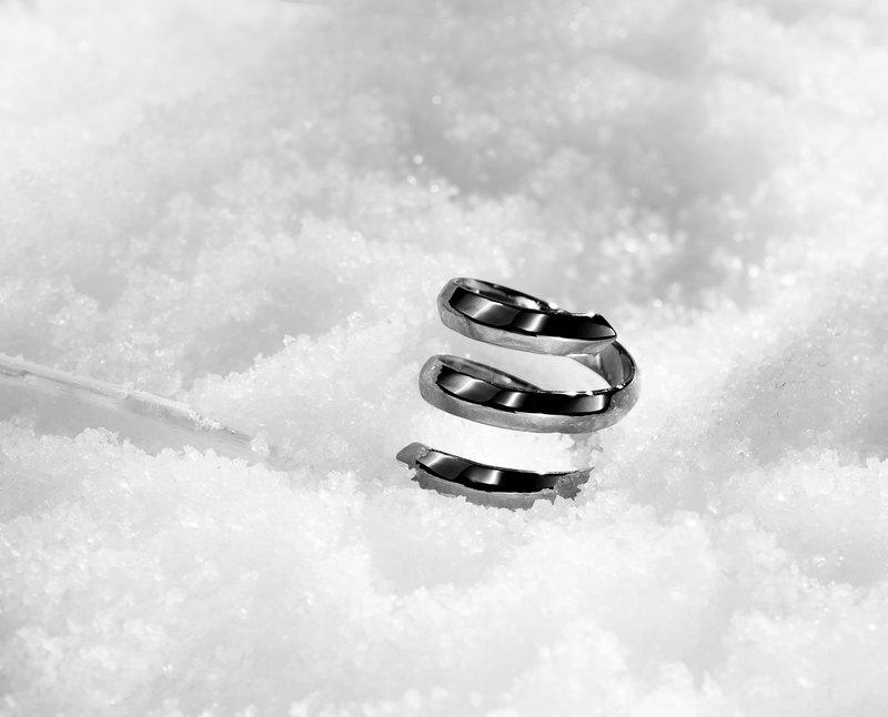 純銀螺旋開口戒指 925銀飾寬版女戒 漩渦硫化螺旋戒指 質感黑戒指