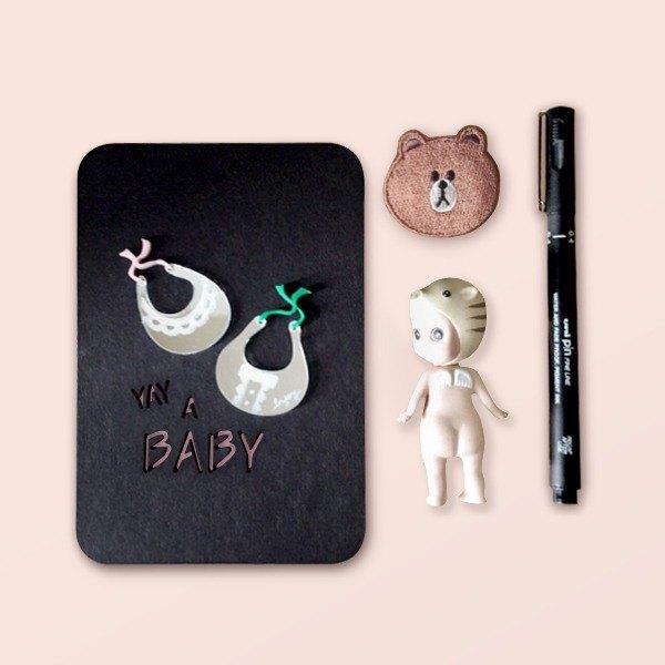 出生 彌月 滿月 生日 寶寶 客製化 立體祝福萬用卡片 明信片