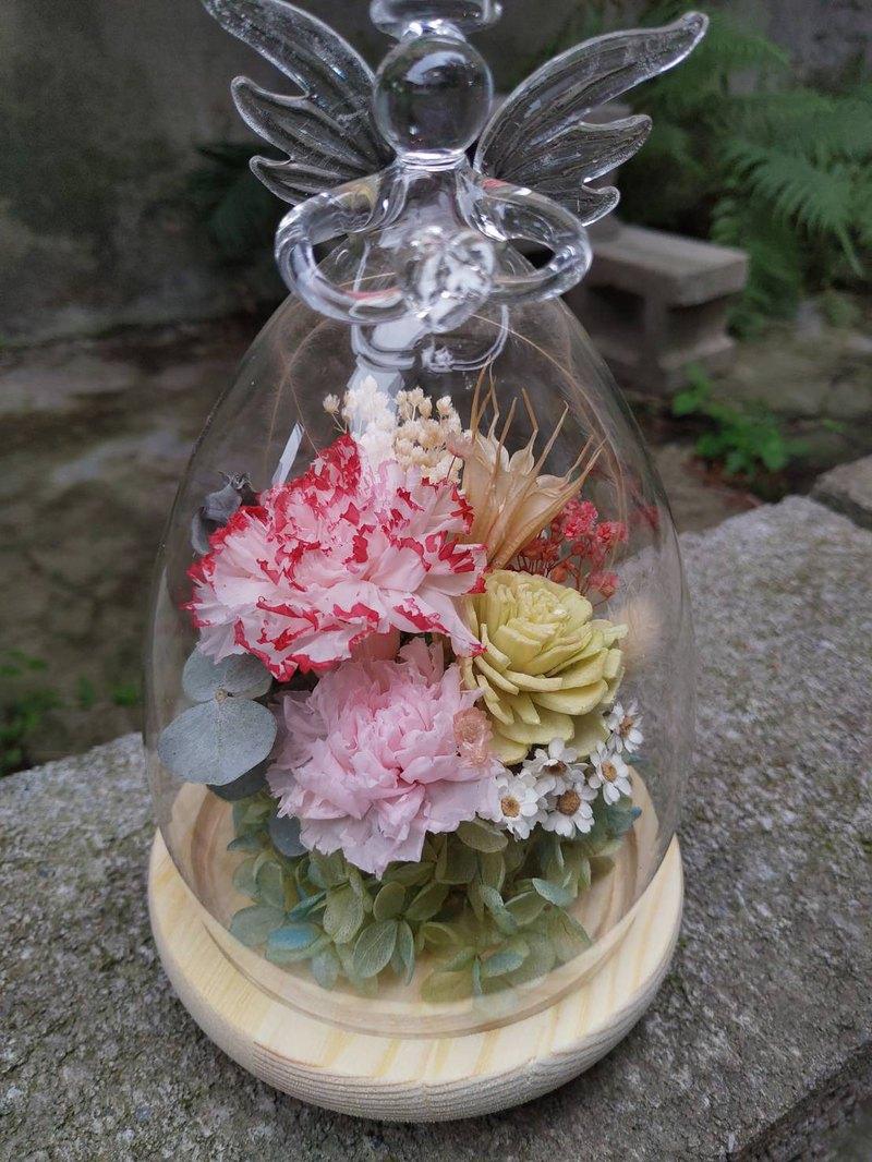 漫森態 不凋花玻璃罩 玻璃盅 美女と野獣 康乃馨 母親節