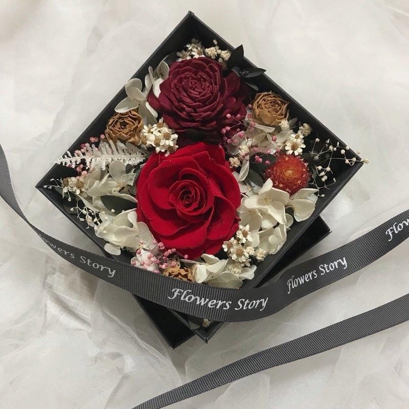 永生玫瑰花盒-濃烈的愛