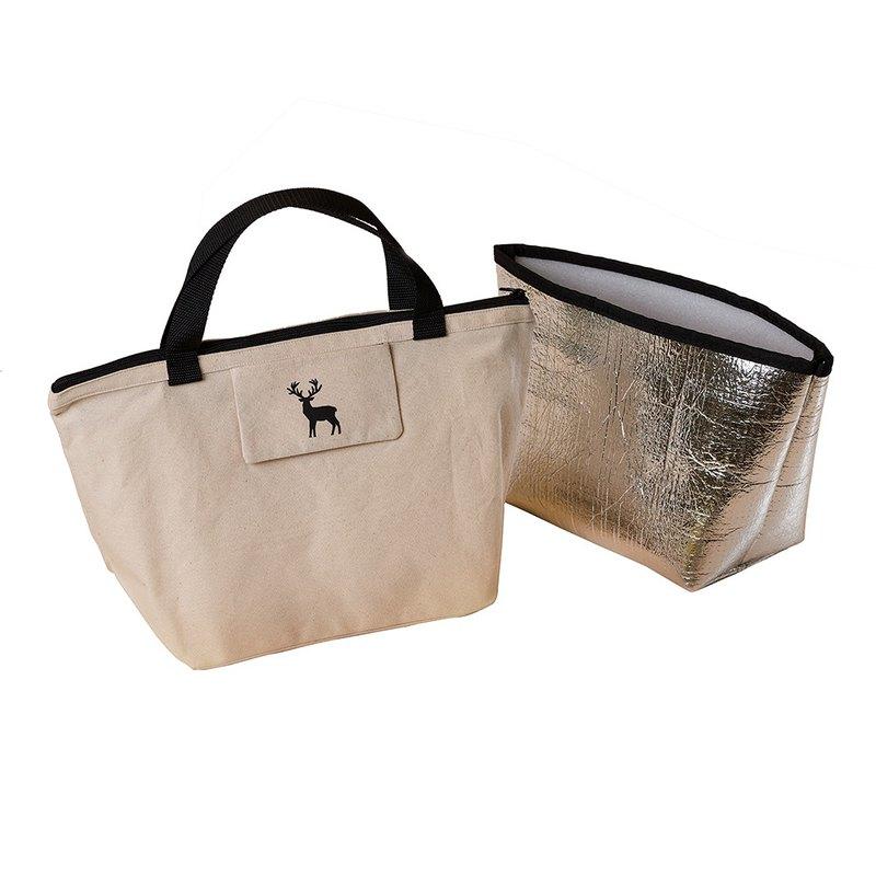 YCCT 手提袋+保溫保冷袋 - 馴鹿 - 托特包/餐袋/飲料提袋/便當袋