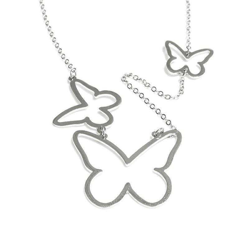 3Steps 可愛抽象蝴蝶項鍊