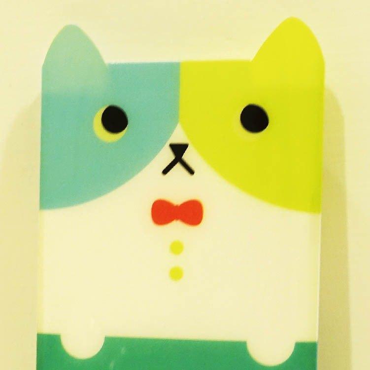 hime's cats 我的貓隨身筆記本- 條紋藍貓書套 + 空白筆記簿