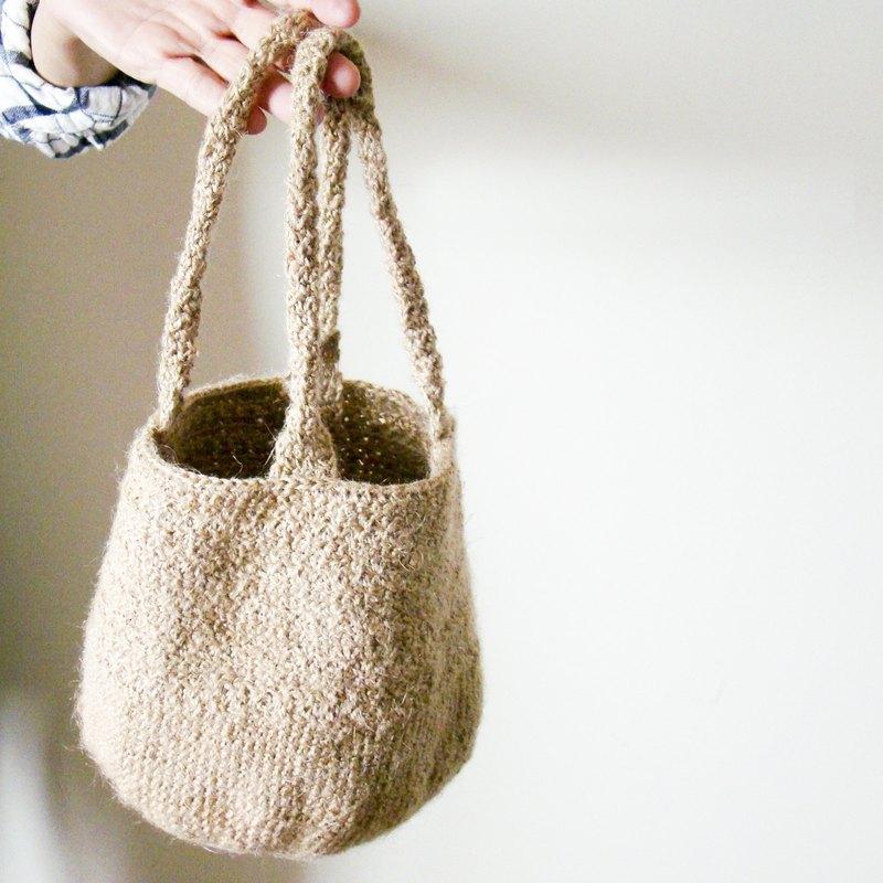 有色包子包 /有色麻繩編織/