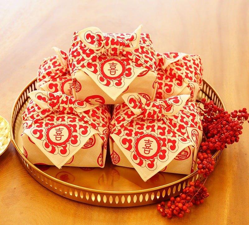 婚禮小物 喜  包裹巾茶包  團購/免運  組合8包裝X10組