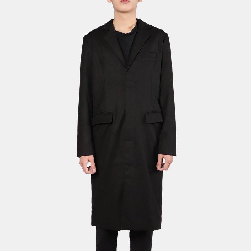西裝長版大衣外套