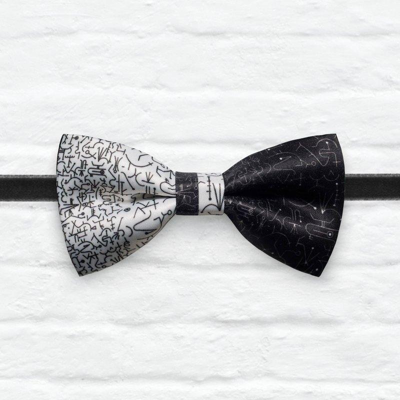 Style 0344 混與沌 黑色 印花 婚禮 宴會 領結