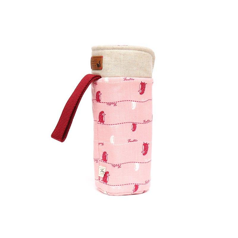 保溫防撞水壺袋 - 漫步一線間 - 櫻花粉/交換禮物/聖誕禮物