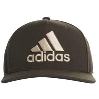 アディダス キャップ ロゴフラットキャップ (EBZ97 DZ8961) 帽子 : カーキ adidas