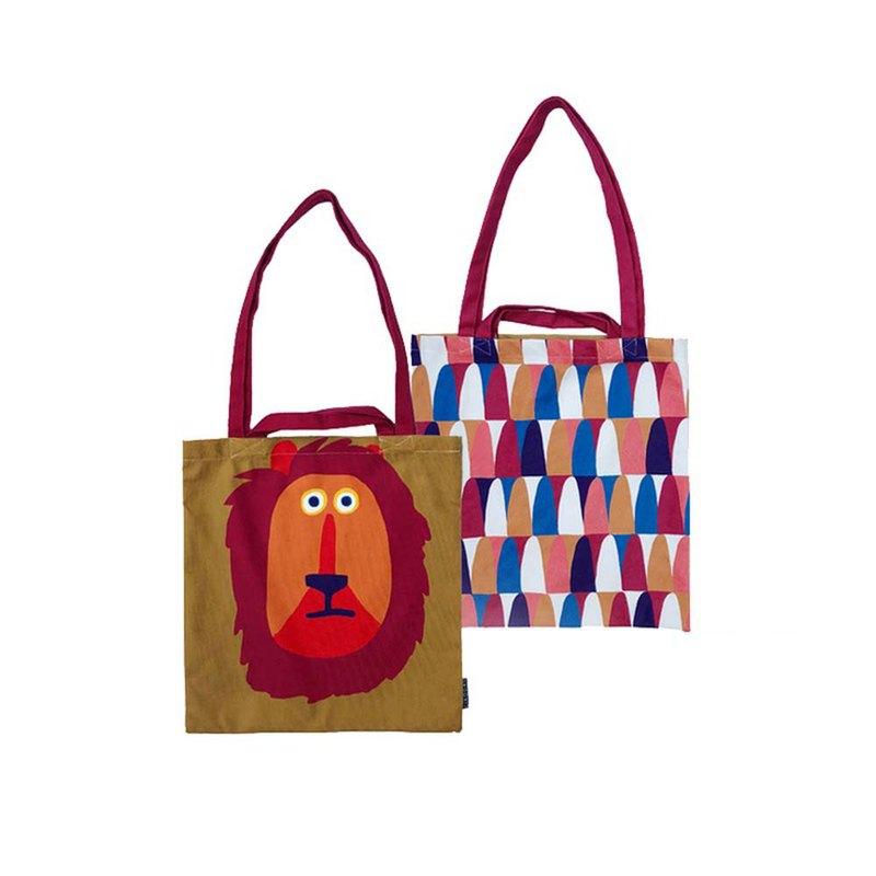 【草稿/ciaogao】原創設計北歐風格動物獅子新年禮物購物袋環保袋