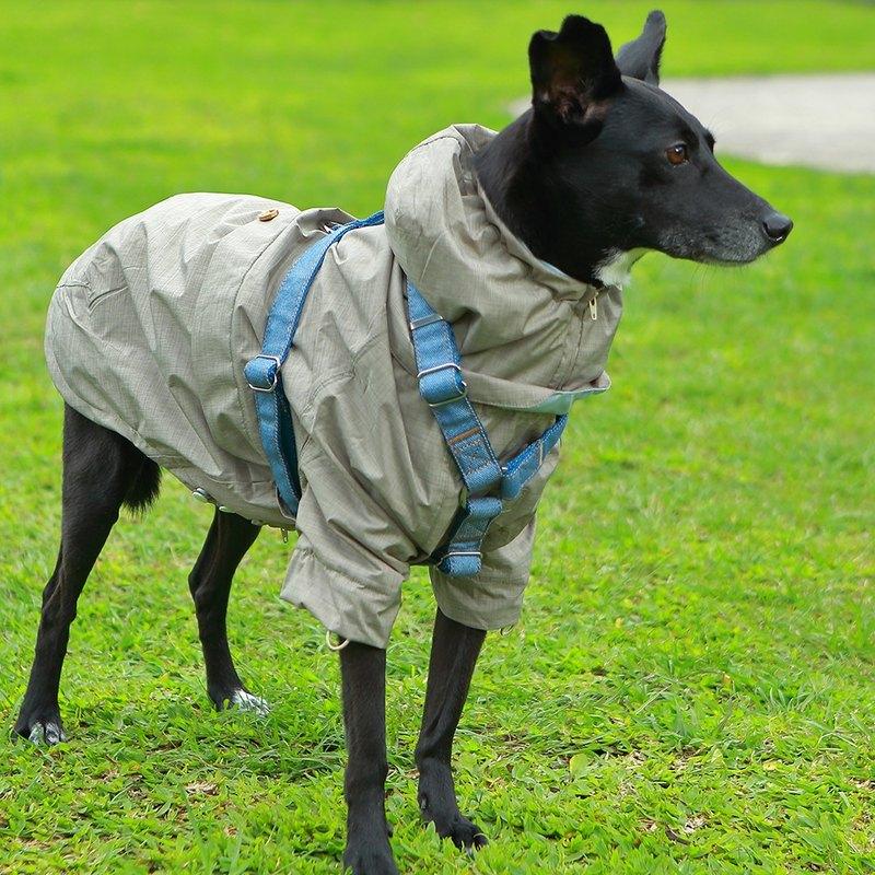 防水透氣涼感機能寵物雨衣-卡其色