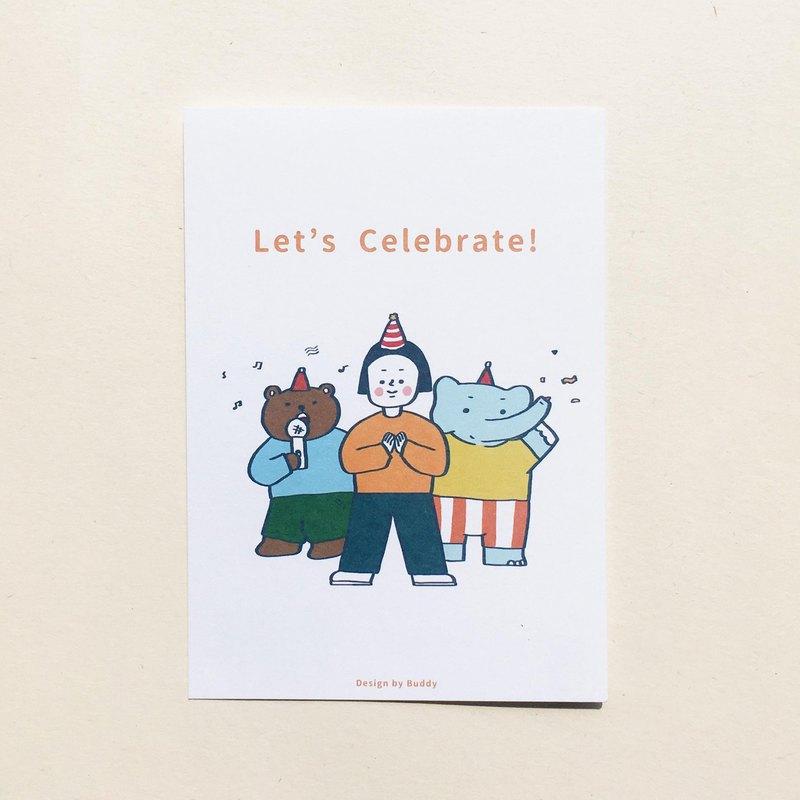 Buddy   Let's Celebrate!   明信片