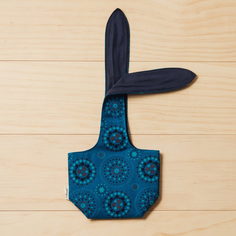 小胖兔耳袋/煙火/星夜藍色