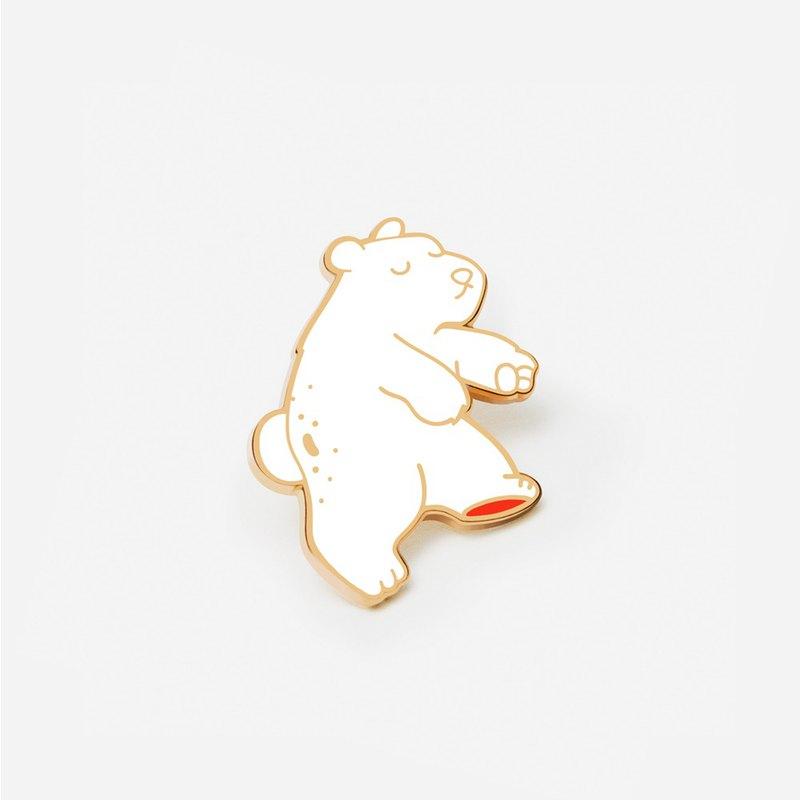 浮動極地琺瑯別針 - Bear Pin - Bear with me