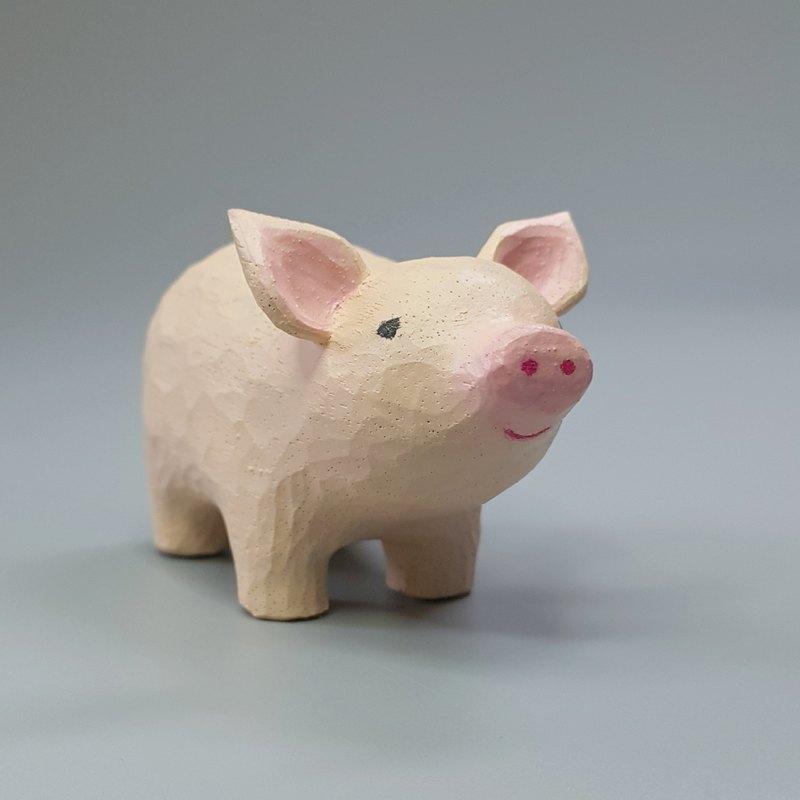 小豬(木雕藝術品)